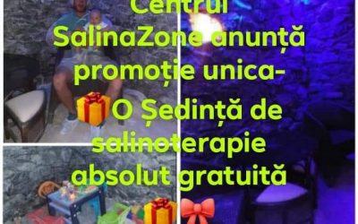 """Centrul """"SalinaZone"""" anunță promoție unică – o ședință absolut gratuită de salinoterapie!"""