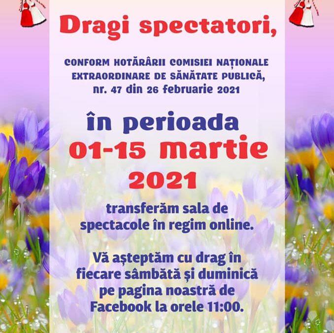 Piese de teatru ONLINE (1-15 martie)