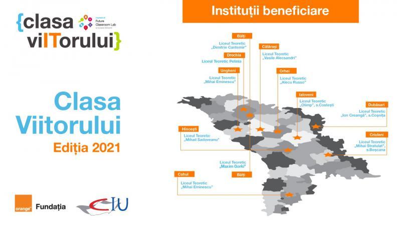 """Alte 11 licee din Republica Moldova au aderat la marea familie """"Clasa Viitorului"""""""