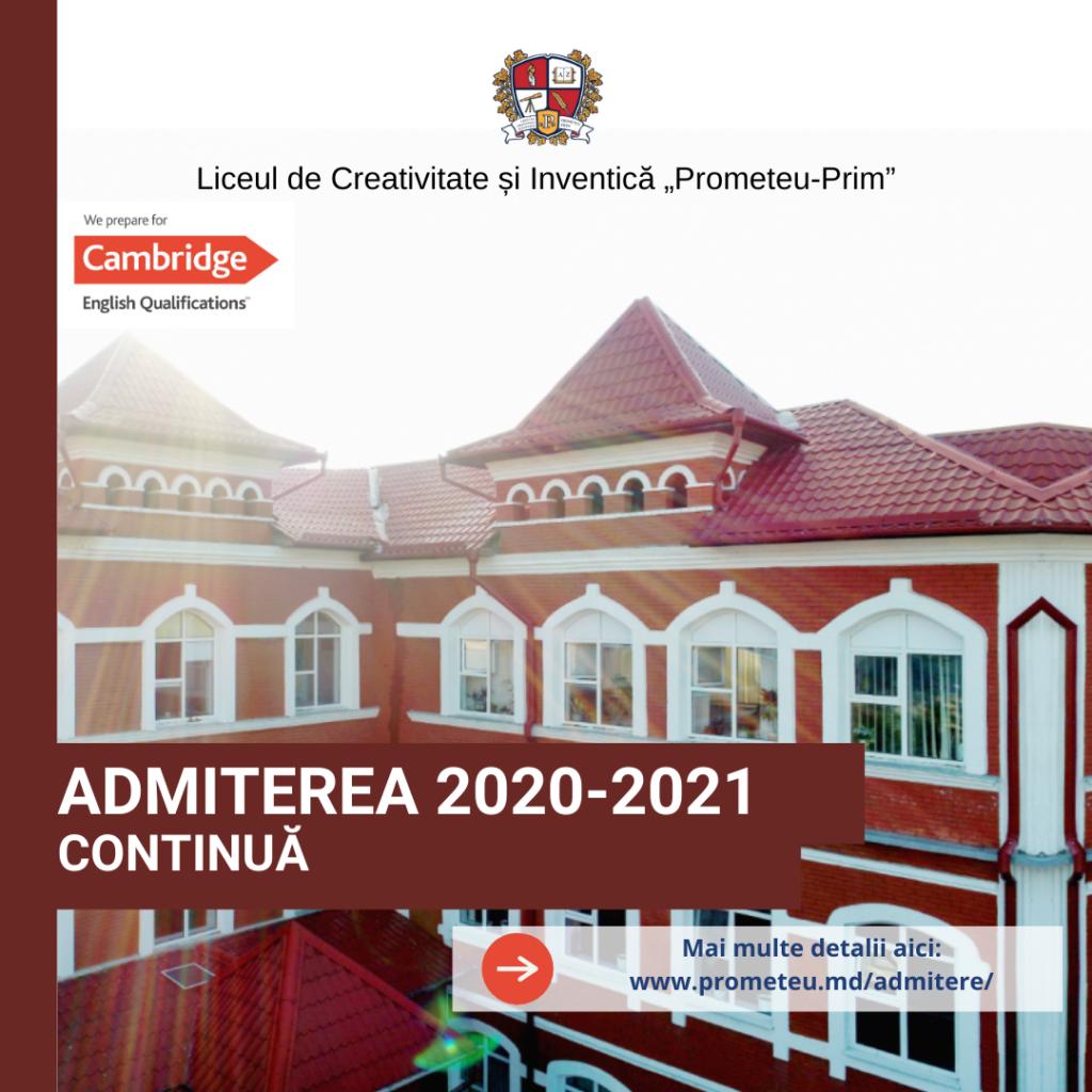 """Locuri vacante pentru clasa pregătitoare la Liceul de Creativitate și Inventică """"Prometeu Prim"""""""